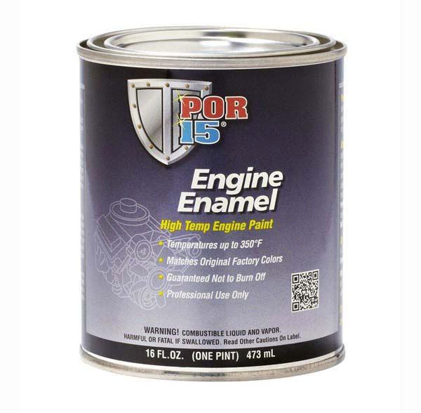 POR 15 ENGINE ENAMEL (BLACK) - PINT | PT4023Z