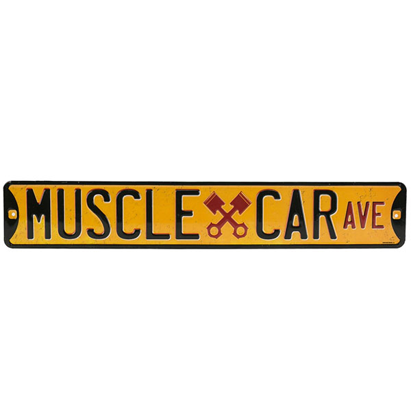 Muscle Car Ave. Embossed Street Tin Sign 20