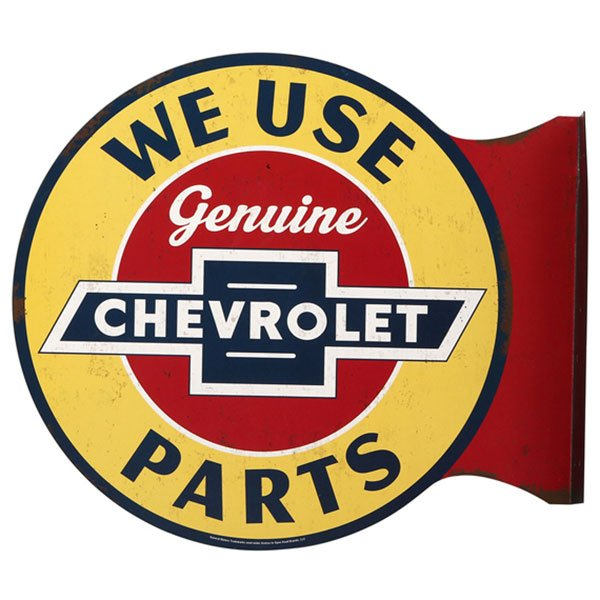 Chevrolet Genuine Parts Flanged Wall Sign 13.4