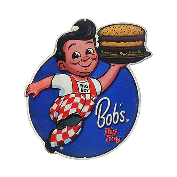 BOB'S BIG BOY EMBOSSED TIN SIGN 12.23