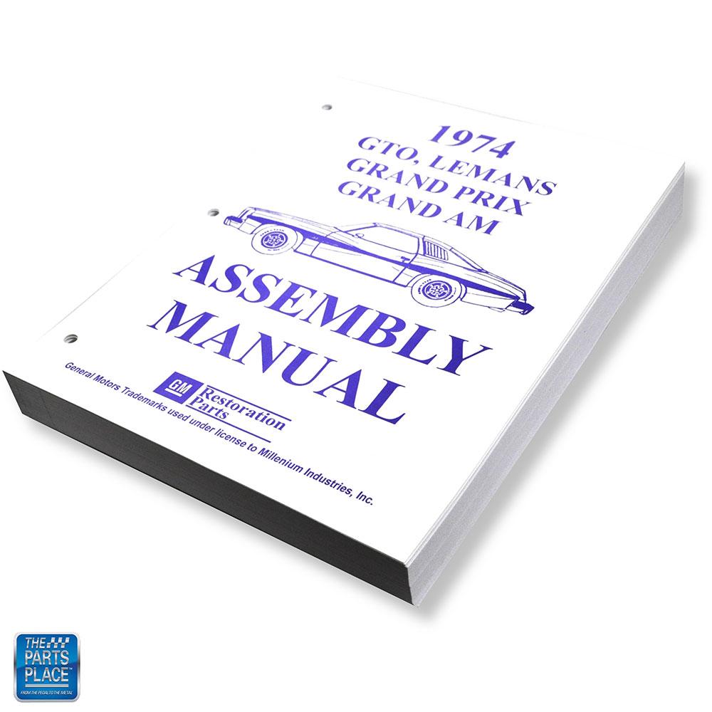 74 Lemans Grand Prix Grand Am Factory Assembly Manual