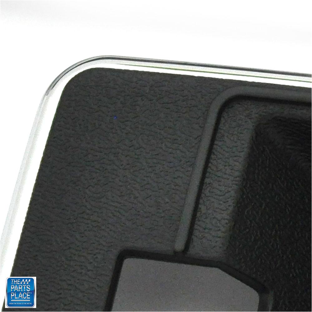78-80 GM F Body Deluxe Door Handle Escutcheon Dark Blue PR Thin Chrome Edge