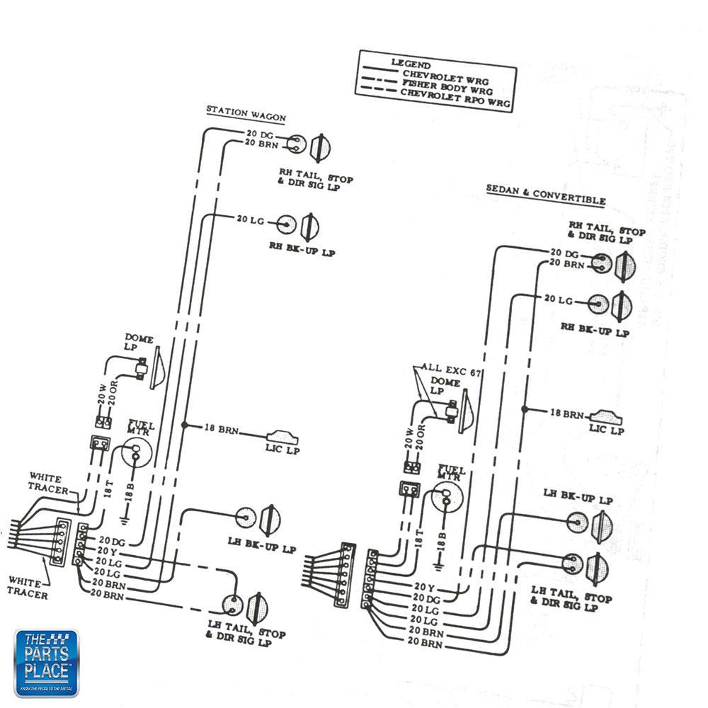1966 Chevelle Wiring Diagram Manual Brochure Each