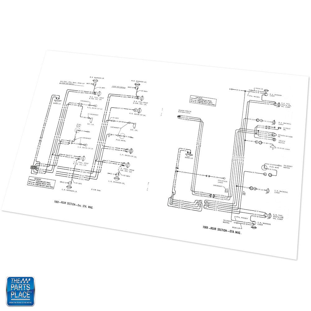 1969 Chevelle Wiring Diagram Manual Brochure Each