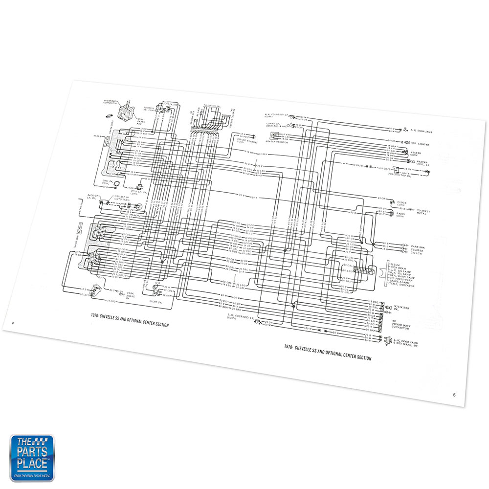 1970 Chevelle Wiring Diagram Manual Brochure Each | eBay