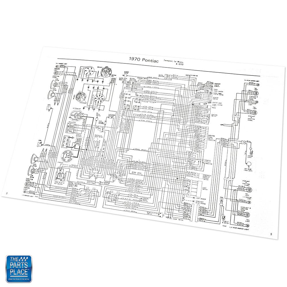 1970 Gto Lemans Tempest Wiring Diagram Manual Brochure Each