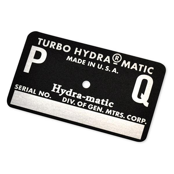 1970 Pontiac GTO/LeMans/Tempest AUTOMATIC TRANSMISSION TAG - PQ BLACK (400 RAM AIR) | AT15391Z