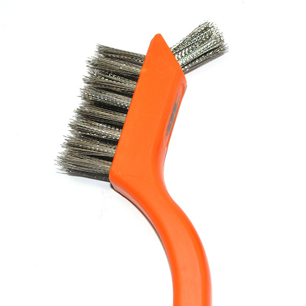 POR-15 2 FUNCTION MINI WIRE BRUSH, SET OF 3 PIECES EXCELLENT FOR CLEANING LITTLE PARTS BEFORE PAINTING   PT2010Z