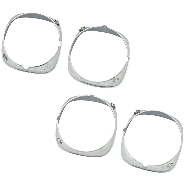 1969 Pontiac Firebird/TransAm HEADLAMP BEZEL (INNER & OUTER CHROME) GM # 9796576 9796577 9796578 9796579 – SET OF 4 | GH9796F