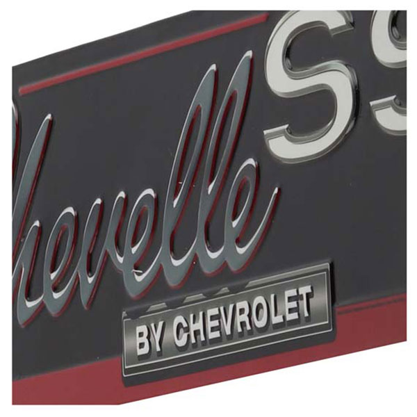 Chevelle SS by Chevrolet Embossed Tin Sign 20