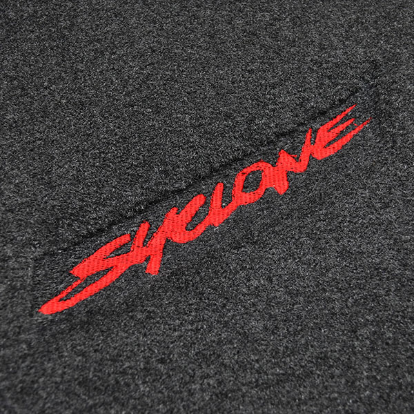 1982 GM Truck CARPETED FRONT FLOOR MATS SYCLONE RED EMBROIDERED LOGO | IN6024K