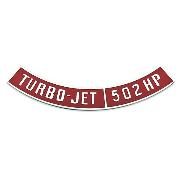 Chevrolet Impala/Caprice/Bel Air DIECAST METAL AIR CLEANER EMBLEM TURBO-JET 502HP NOT A DECAL | EM1540C