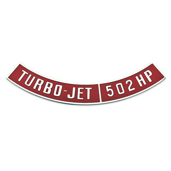 Impala/Caprice/Bel Air DIECAST METAL AIR CLEANER EMBLEM TURBO-JET 502HP NOT A DECAL | EM1540C