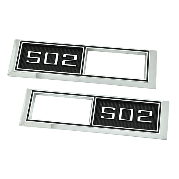 1968 Chevelle/Malibu FRONT MARKER LIGHT CHROME BEZELS (ENGINE SIZE 502) PAIR | XL5002C