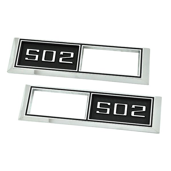 1968 Chevrolet Impala/Caprice/Bel Air FRONT MARKER LIGHT CHROME BEZELS (ENGINE SIZE 502) PAIR | XL5002C