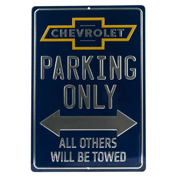 Chevrolet Parking Only Embossed Tin Sign | 90153838-S