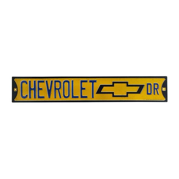 Chevrolet Dr. Embossed Tin Street Sign 20